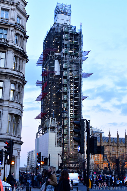 Elizabeth Tower in Scaffolding