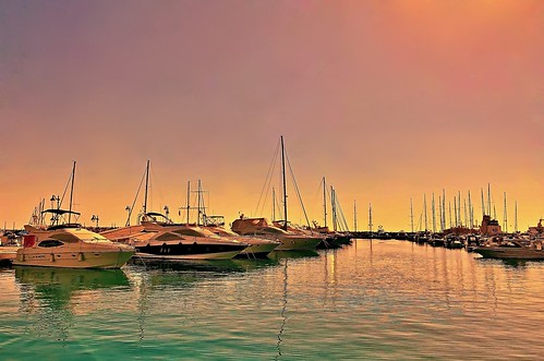 Water Colors - Limassol marina, Cyprus