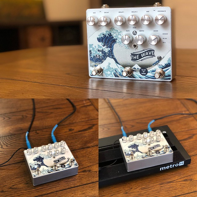 Photo:FoxPedal The Wave Reverb and Delay Pedal By GuitarChalk