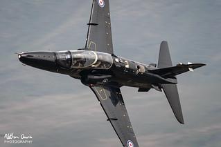 RAF Hawk T.2 ZK028 low level at Ambleside