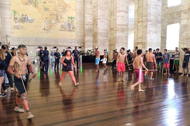 Em março, indígenas ocuparam a Prefeitura de São Paulo para cobrar mais investimentos - Créditos: Foto: Douglas Mansur/Arquivo
