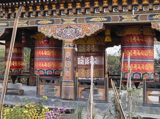 Large prayer wheels