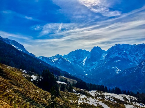 Kaiser mountains near Ritzaualm near Kufstein in Tyrol, Austria
