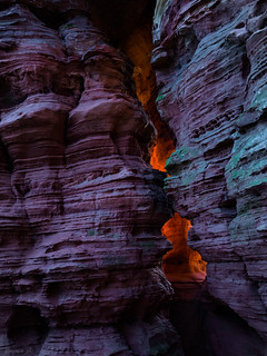 The glowing rock