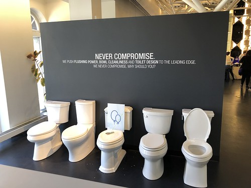 Never Compromise: toilet display, Kohler Design Center, Kohler, Wisconsin