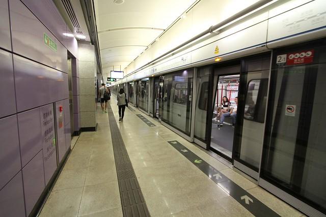 Platform level at Sai Ying Pun Station