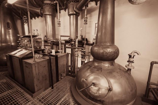Kilchoman Distillery Spirit Safe Spirit Still