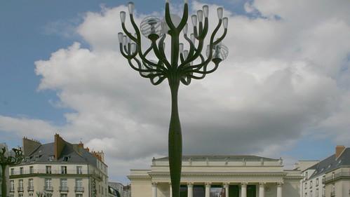 Nantes, place et théatre Graslin