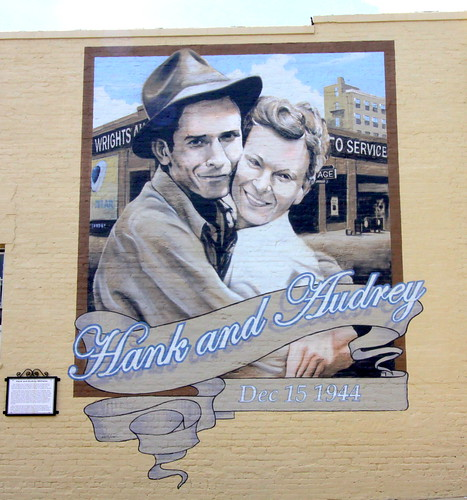 Wedding of Hank and Audrey Williams Mural - Andalusia, AL