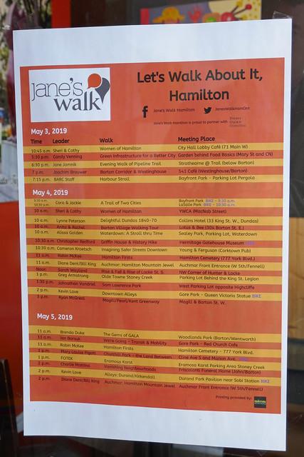 'Let's Walk About It, Hamilton' Jane's Walk schedule
