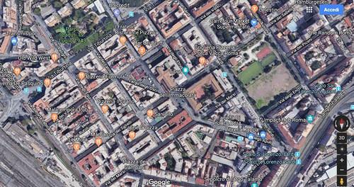 2019 25 aprile San Lorenzo Antifa Quartiere Tiburtino, Foto de Alvariis By Googla Maps a