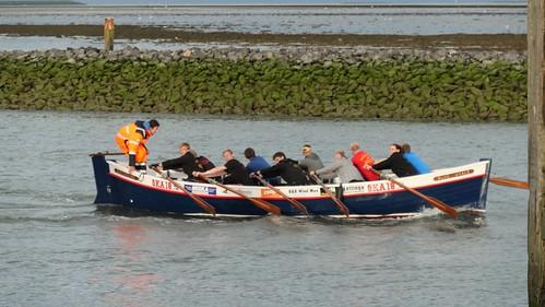 Blue whale rowers, Kerwood boat Terschelling