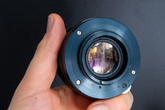 Rear view of a Helios 44M 58mm F2