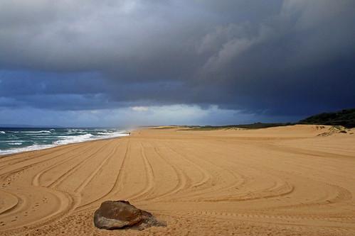 Storm over Redhead Beach