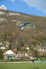 Landing @ Paraglider @ Les Esserts @ Talloires @ Hike to Château de Menthon, Rochers des Moillats & Ermitage de Saint-Germain