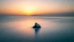 Sunrise on the rock - Crete, Greece - Seascape photography