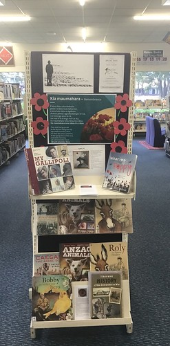 Anzac Day display, Hornby Library