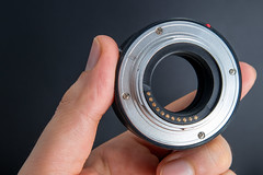 Rear view of FOTGA Extension Tubes DG 10mm and 16mm for MFT