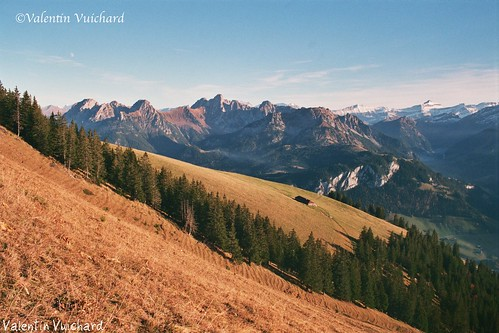 """SF_01A_00031 - Panorama on the mountains of the """"Pays d'en Haut"""", Gruyère region - Switzerland"""