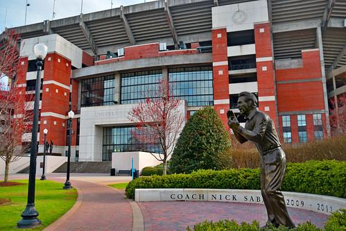 Coach Nick Saban Statue -- University of Alabama Football Stadium (Gate 1) Tuscaloosa (AL) February 2019