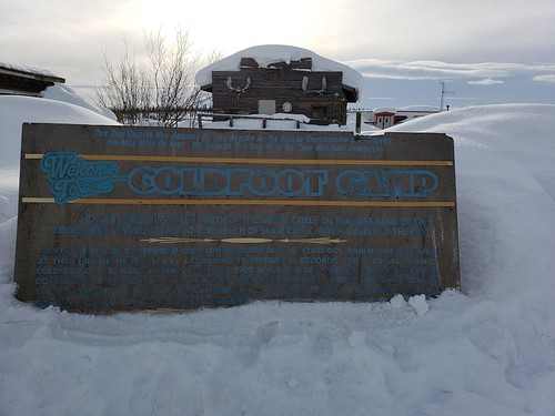 Coldfoot Camp sign