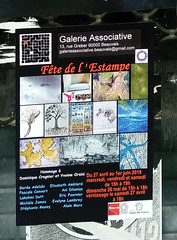 Exposition livres d'artistes galerie associative Beauvais affiche avril mai 2019