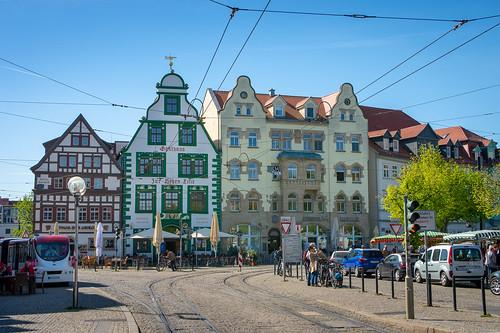 Colorful houses ... seen in Erfurt, Germany