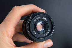 Front view of an INDUSTAR 50 50mm F3.5