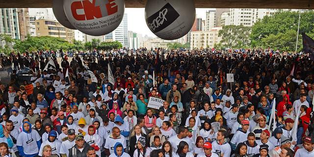 Movimentos apostam na unidade das três categorias para barrar políticas adotadas pelo MEC  - Créditos: (Foto: Agência Brasil)