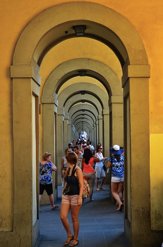 Arcades of Uffizi Gallery