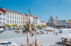 Historical sights of Olomouc in the Czech Republic