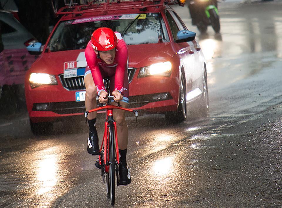 Giro 2016 - Cronometro del Chianti Classico - passaggio da Castellina in Chianti - Ilnur Zakarin (foto inviata dal sig. Massimo)