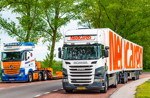Out in  Holland on the A28 Headed Direction Meppel...