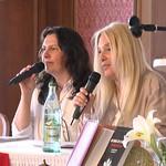 Munich-Vassula sitting as she presents her talk