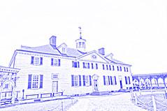 Mount Vernon mansion (drawing filter)