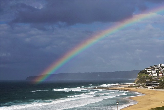 Rainbow over Merewether Beach  Newcastle NSW