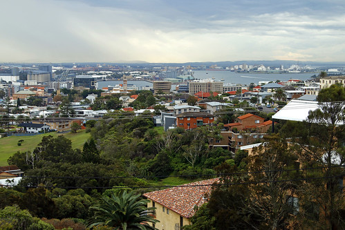 Scenic view of Newcastle to the north west - Newcastle Memorial Walk
