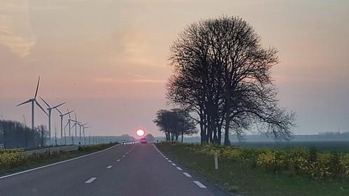 Had ik vanochtend toch bijna een aanrijding met de zon...
