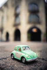 My little teal car