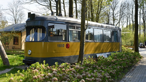 RET Rotterdam tram number 1610 preserved at a camp side in Wieringerwerf, The Netherlands