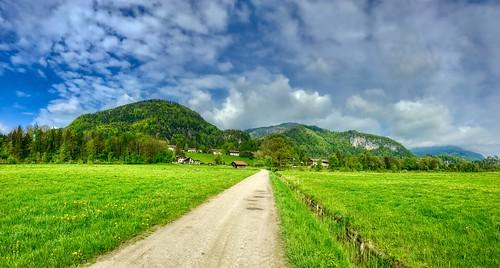 Landscape panorama near Ried, Bavaria, Germany