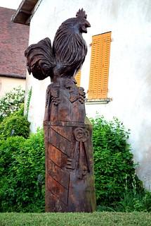 Saint-Pierre-de-Varennes (71) : le coq de Bernard Morot-Gaudry