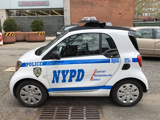 NYPD Headquarters Security Smart Car #2711.