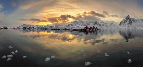 Golden Sunset, Hamnoy, Lofoten, Norway