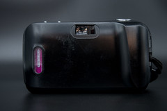 Rear view of an Olympus Stylus