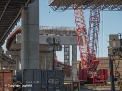 Westbound Kosciuszko Bridge (under construction) over Newtown Creek, Brooklyn-Queens, New York City
