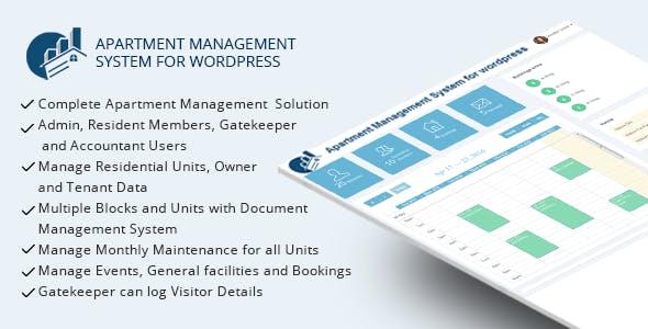 WPAMS v17.0 - Apartment Management System for wordpress