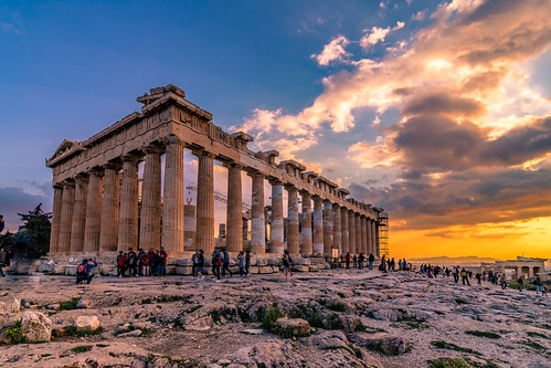 Sunset in Acropolis