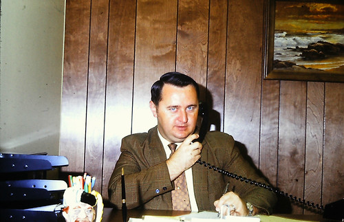 1971 Dick Baxter in Witmer new CS Office