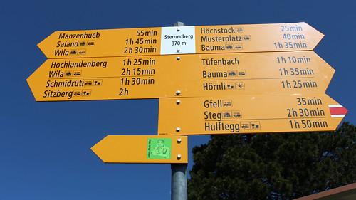 Sternenberg - Zentraler Wegweiser